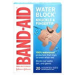 Band-Aid Water Block Plus Finger-Care Bandages- 20 ea