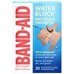 Band-Aid Water Block Plus Finger-Care Bandages- 20 ea