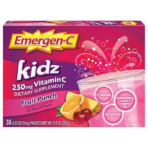 Emergen-C Kidz Vitamin C 250mg, Fruit Punch- 30 ea