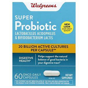 Walgreens Super Probiotic Digestive Support Capsules- 60 ea