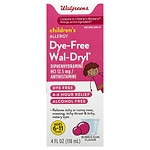 Walgreens Wal-Dryl Children's Allergy Oral Solution Dye-Free, Bubble Gum