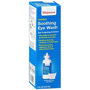 Walgreens Sterile Soothing Eye Wash Eye Irrigating Solution, 4 oz