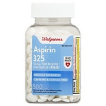 Walgreens Aspirin 325 mg Pain Reliever/Fever Reducer Tablets