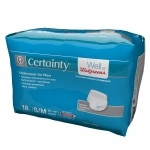 Walgreens Certainty Men's Underwear, Super Plus Absorbency, S/M