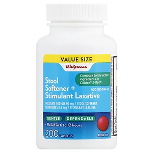 Walgreens Stool Softener Plus Laxative Tablets Drugstore Com