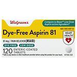 Walgreens Low Dose 81 mg Aspirin Tablets- 120 ea