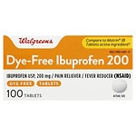 Walgreens Ibuprofen 200 mg Tablets Color Free & Dye Free- 100 ea