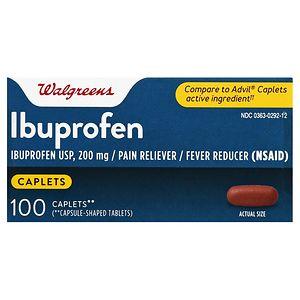 Walgreens Ibuprofen 200 mg Caplets, 100 ea