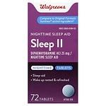 Walgreens Sleep II Nighttime Sleep-Aid Tablets- 72 ea