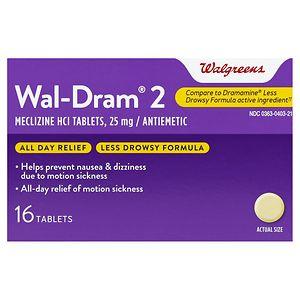 Walgreens Wal-Dram II Antiemetic Travel Sickness Tablets- 16 ea