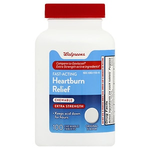 Walgreens Extra Strength Heartburn Antacid Chewable Tablets