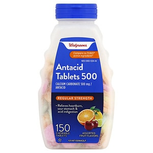 Walgreens Antacid/Calcium Supplement Tablets Regular Strength, Assorted