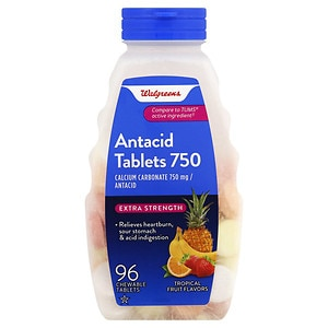 Walgreens Extra Strength Antacid Tablets, Tropical Fruit