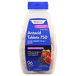 Walgreens Extra Antacid 750 mg Chewable Tablets, Berry- 96 ea