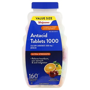 Walgreens Ultra Strength Antacid/Calcium Supplement Chewable Tablets, Assorted Fruit