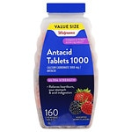 Walgreens Ultra Strength Antacid/Calcium Supplement Chewable Tablets, Assorted Berry- 160 ea