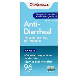 Walgreens Anti-Diarrheal, Caplets, 96 ea
