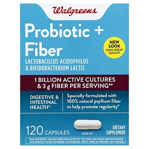 Walgreens Daily Fiber & Probiotic Dietary Supplement Capsules