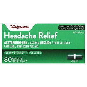 Walgreens Extra Strength Headache Relief Quick Gel Gelcaps- 80 ea
