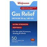 Walgreens Ultra Strength Gas Relief Softgels- 50 ea
