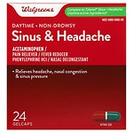 Walgreens Sinus Congestion & Pain Reliever Gelcaps