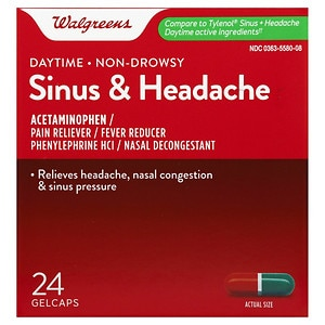 Walgreens Sinus Congestion & Pain Reliever Gelcaps- 24 ea