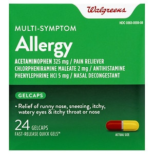 Walgreens Allergy Multi-Symptom Fast Release Quick Gels- 24 ea