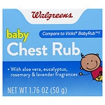 Walgreens Baby Chest Rub Soothing Ointment- 1.76 oz