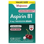 Walgreens Low Dose Aspirin 81 mg Chewable Tablets 3 Pack, Cherry