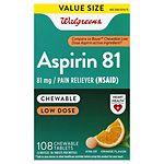 Walgreens Low Dose Aspirin 81 mg Chewable Tablets, Orange
