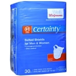 Walgreens Certainty Belted Shields With Buttons, Extra Absorbency