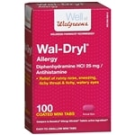 Walgreens Wal-Dryl Allergy Relief, Coated Mini Tabs- 100 ea