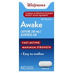 Walgreens Awake Alertness Aid Caplets- 60 ea