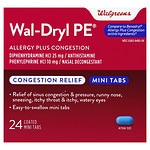 Walgreens Wal-Dryl PE Allergy & Sinus, Coated Mini Tabs- 24 ea