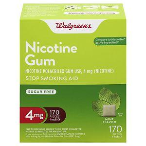 Walgreens Nicotine Gum, 4 mg, Mint, 170 ea