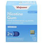 Walgreens Nicotine Gum 2 mg, Original