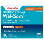 Walgreens Wal-Som Nighttime Sleep Aid Tablets- 48 ea