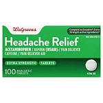Walgreens Headache Relief, Extra Strength Tablets- 100 ea