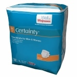 Walgreens Certainty Fitted Briefs, Large