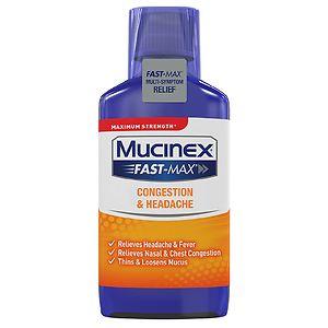 Mucinex Maximum Strength Fast-Max Cold & Sinus, Multi-Symptom- 6 fl oz