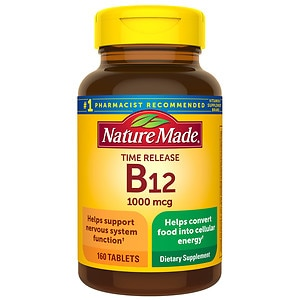 Nature Made Vitamin B-12 1000 mcg Timed Release Value Size, Tablets- 160 ea