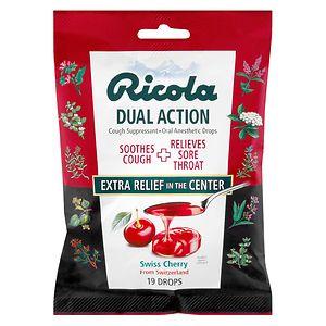Ricola Dual Action Cough Suppressant Drops, Cherry- 19 ea