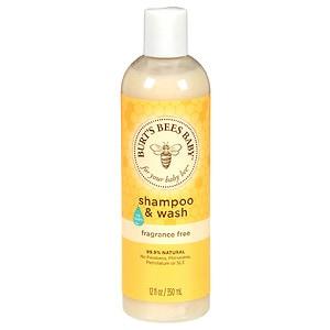 Burt's Bees Baby Bee Shampoo & Wash, Fragrance Free- 12 fl oz