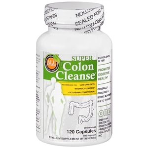 Health Plus Super Colon Cleanse Psyllium with Herbs, Capsules, 120 ea Health Fitness Skin Care Beauty Supply Deals