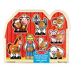 Melissa and Doug Large Farm Jumbo Knob 2+