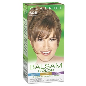 Clairol Balsam Color Permanent Hair Color, 608 Light Brown