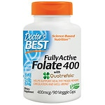 Doctor's Best Fully Active Folate, 400mcg, Veggie Caps- 90 ea