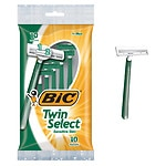 BIC Twin Select Sensitive for Men, Disposable Shaver- 10 ea