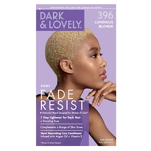 Dark and Lovely Fade-Resistant Rich Conditioning Color Permanent Hair Color, 396 Luminous Blonde