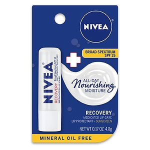 Nivea Lip Care A Kiss Of Recovery Medicated Lip Repair SPF 15- .17 oz